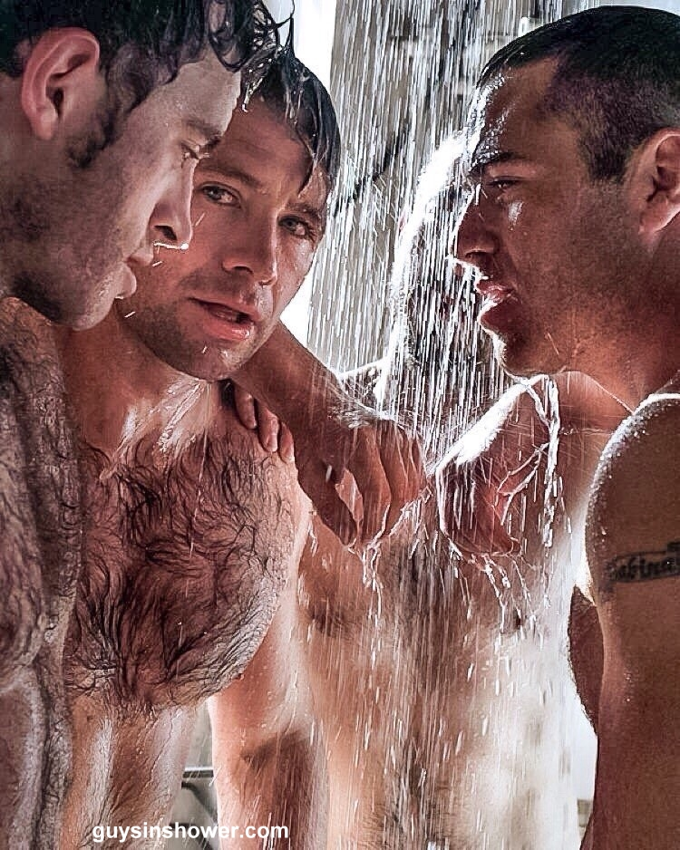 hairy guys in the shower