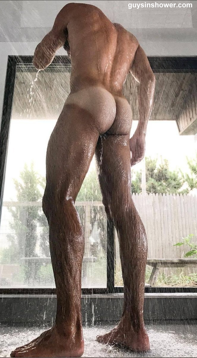 hairy male legs and butt
