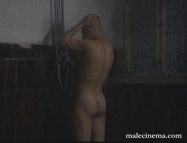 naked boy showering in movie
