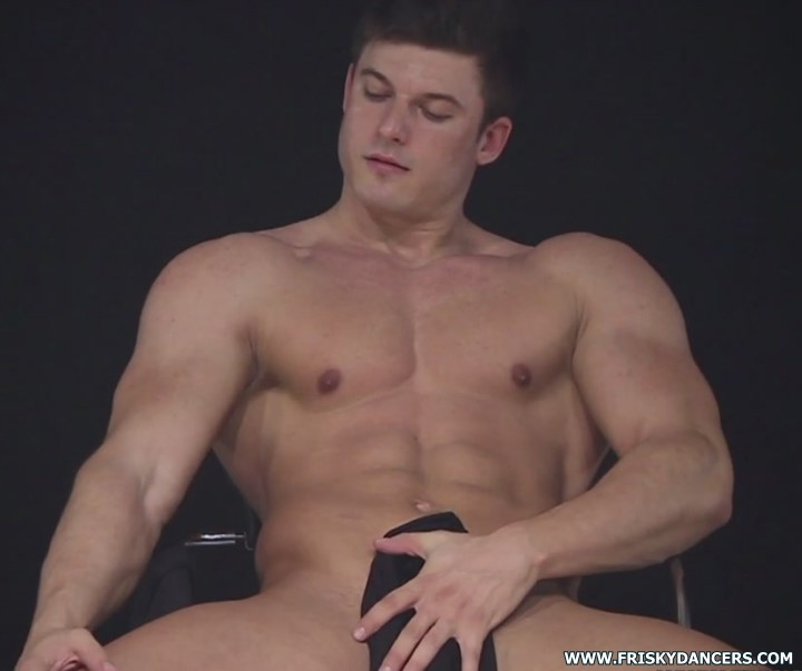 muscled male stripper from Spain
